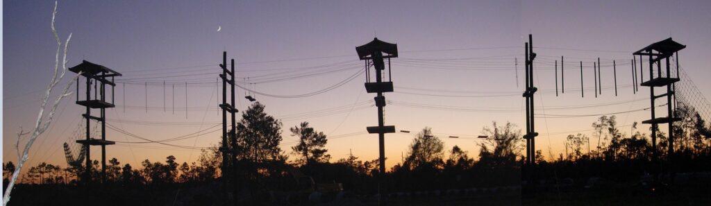 פארק חבלים באוניברסיטה שבפלורידה Ropes Park at the University of Central Florida
